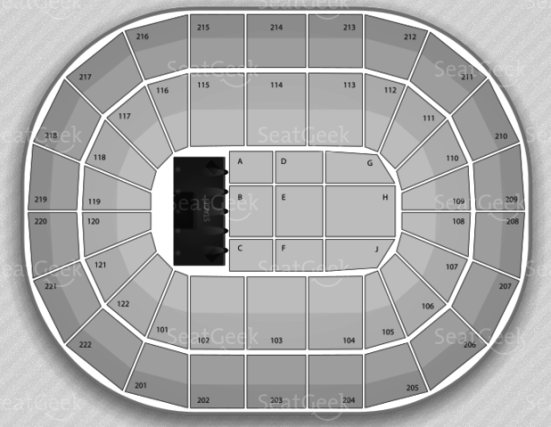 Manchester Arena seating chart.