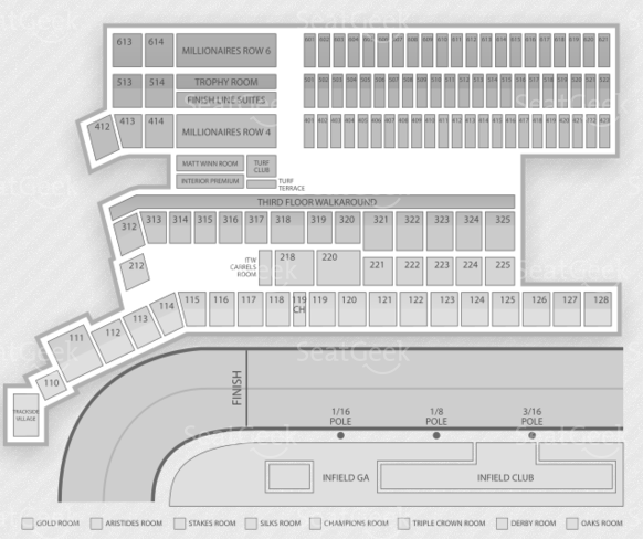 Churchill Downs Seating Chart