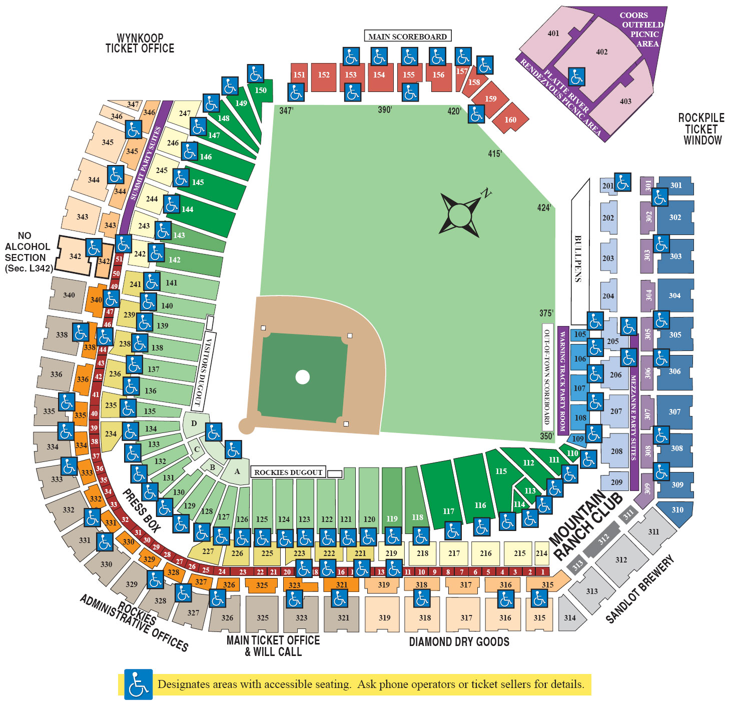 A Mile High View At Coors Field Tba