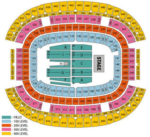 Cowboys Stadium concert seating