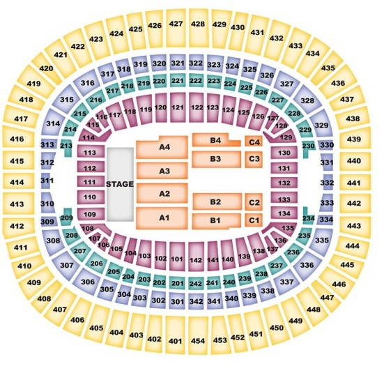 FedEx Field concert seating