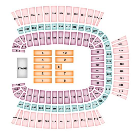 Heinz Field concert seating