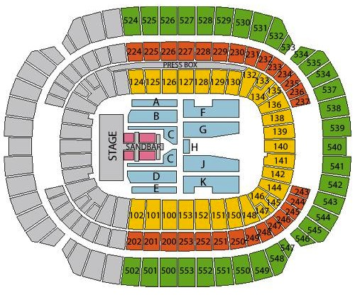 M T Bank Stadium Concert Seating