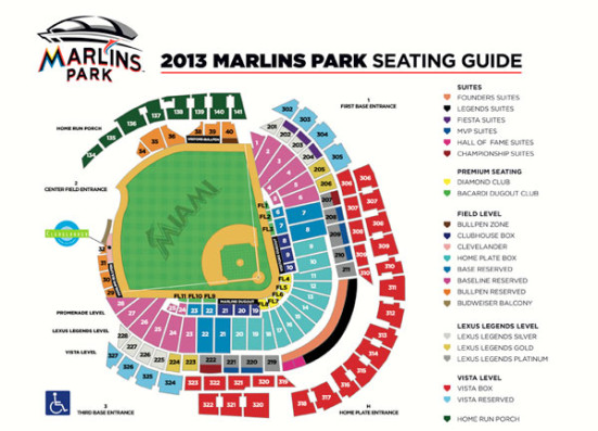 Marlins Park seating