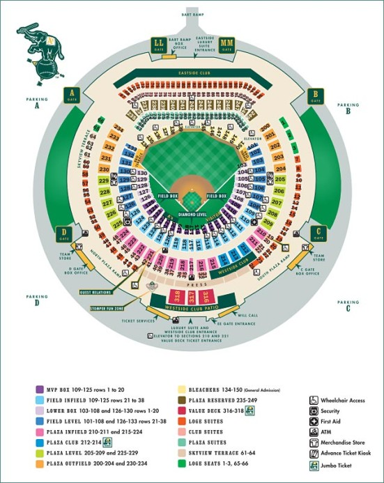 O.co Coliseum seating chart