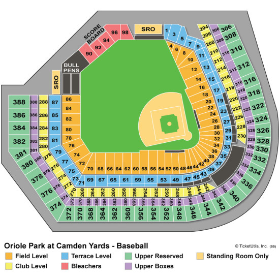Oriole Park seating chart