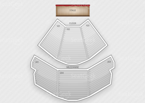 MGM Grand Hotel seating chart.