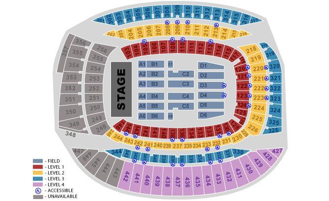 Soldier Field concert seating