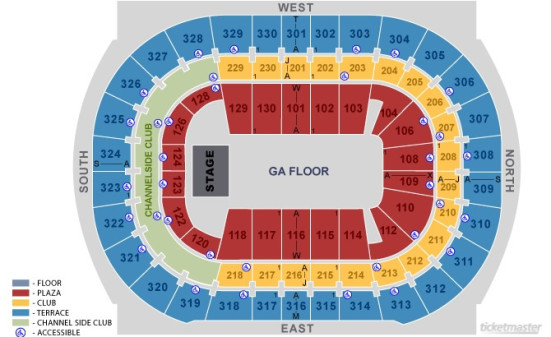 Tampa Bay Times Forum concert seating