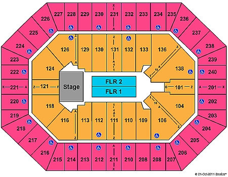 Toyota Center concert seating