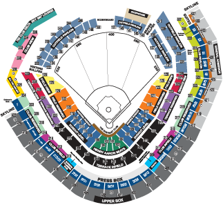 Turner Field seating chart