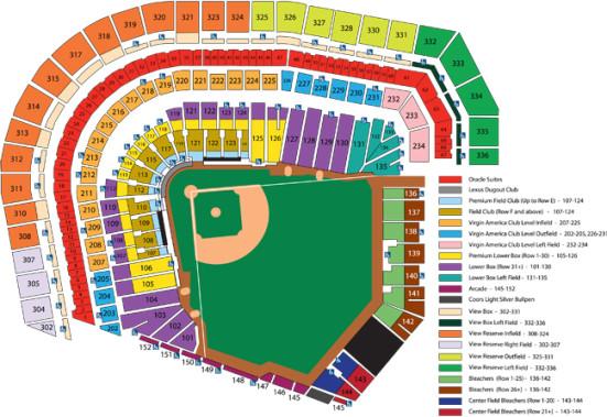 at&t park seating chart