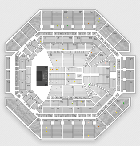 AT&T Center concert seating