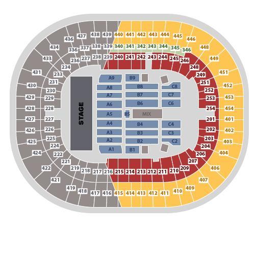 BC Place Stadium concert seating