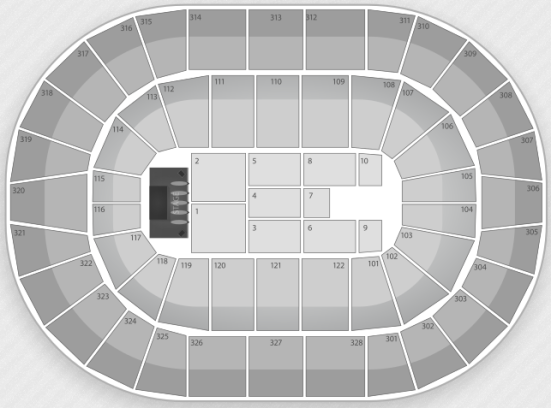 BOK Center concert seating