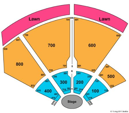 Chene Park concert seating