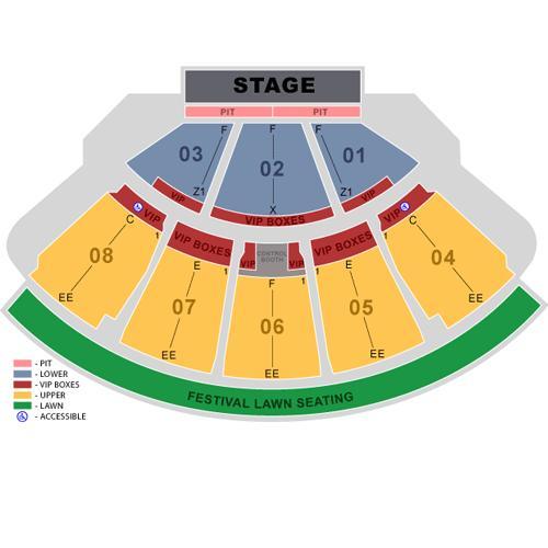 Cruzan Amphitheatre concert seating