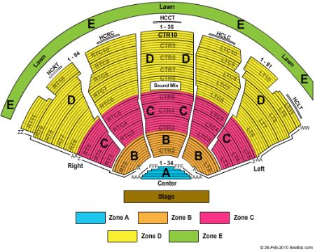 DTE Energy Music Theatre concert seating