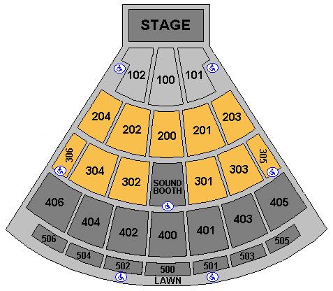Darien Lake Performing Arts Center concert seating
