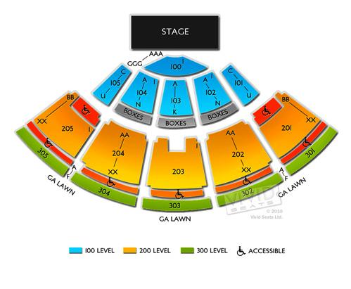 Desert Sky Pavilion concert seating