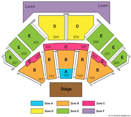 First Midwest Bank Amphitheatre concert seating