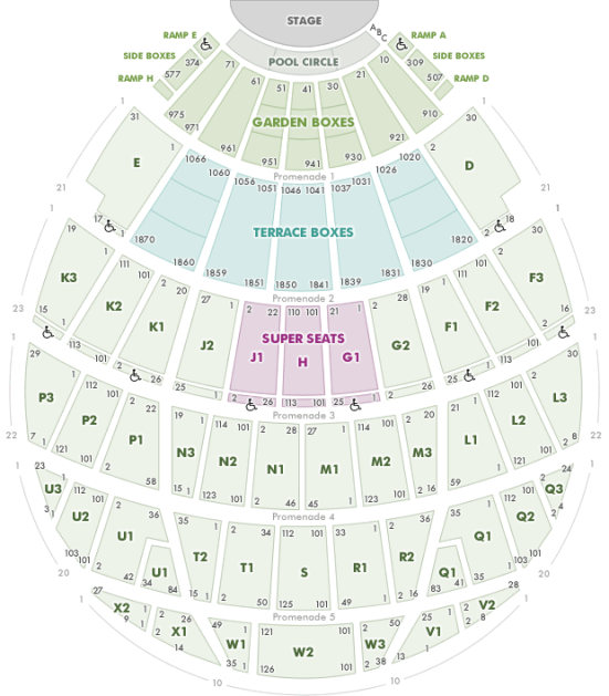 Hollywood Bowl concert seating