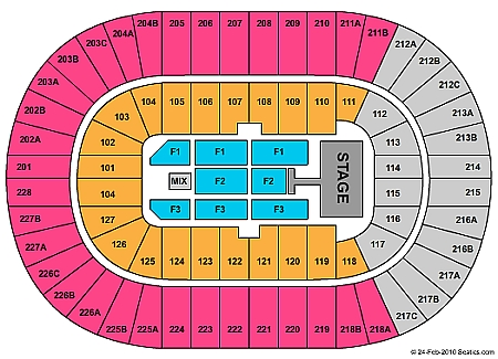 Joe Louis Arena concert seating