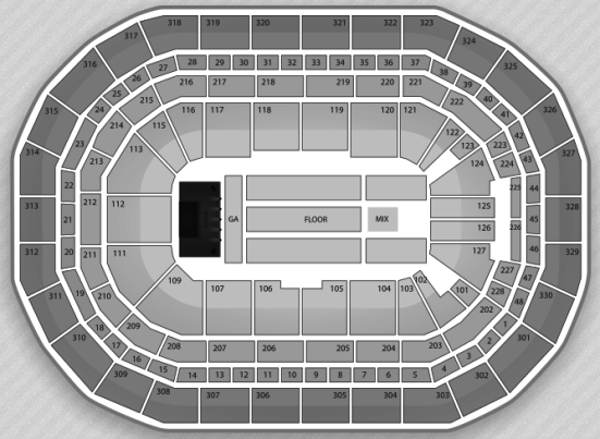 MTS Centre concert seating