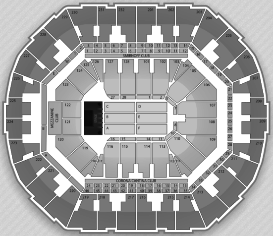 Oracle Arena concert seating