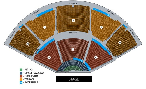 Pacific Amphitheatre concert seating