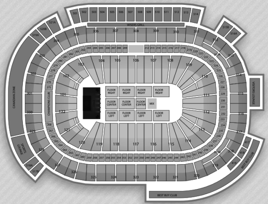 Rogers Arena concert seating