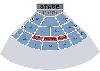 Saratoga Performing Arts Center concert seating