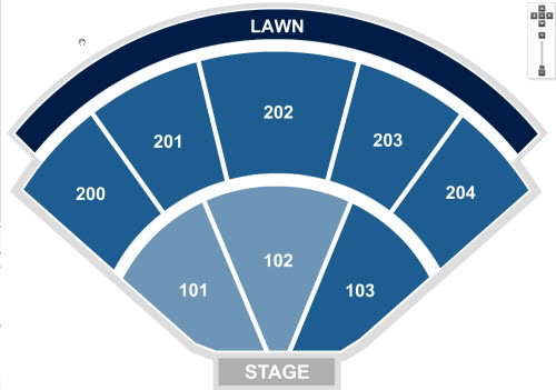 Shoreline Amphitheatre concert seating