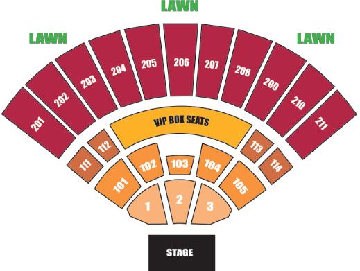 Sleep Train Amphitheatre concert seating