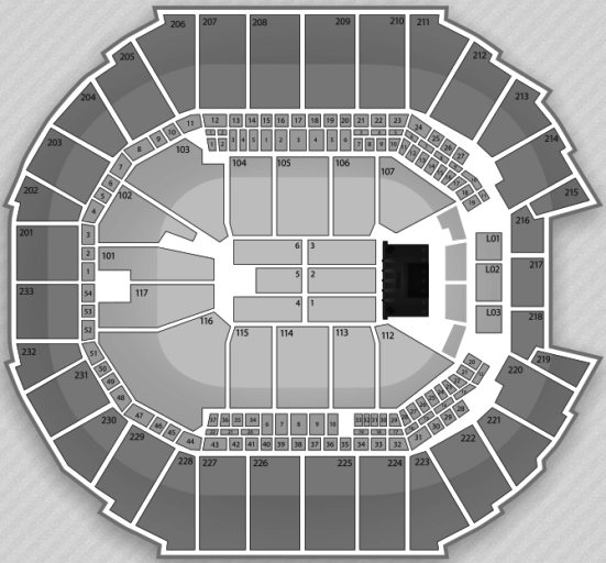 Time Warner Cable Arena concert seating