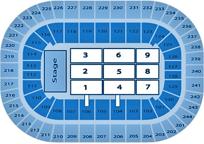 Times Union Center concert seating