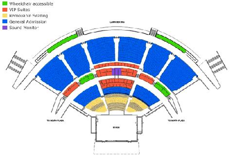 USANA Amphitheatre concert seating