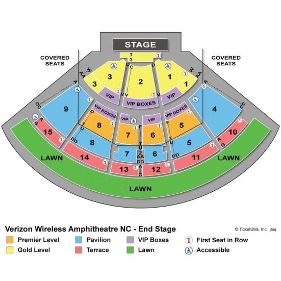 Verizon Wireless Amphitheatre concert seating