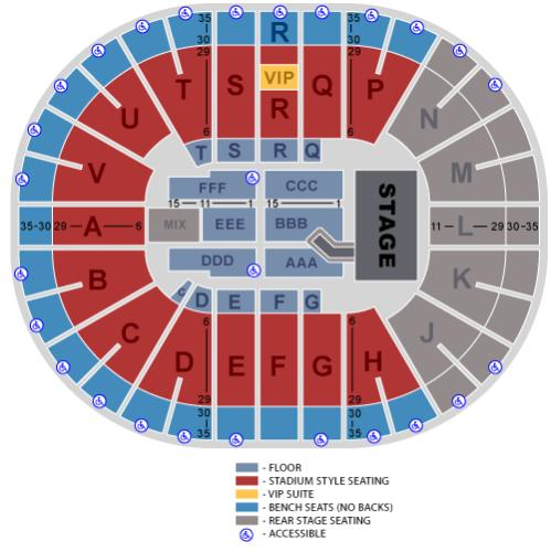 Viejas Arena concert seating