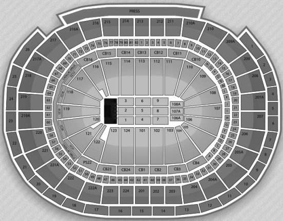 Wells Fargo Arena concert seating