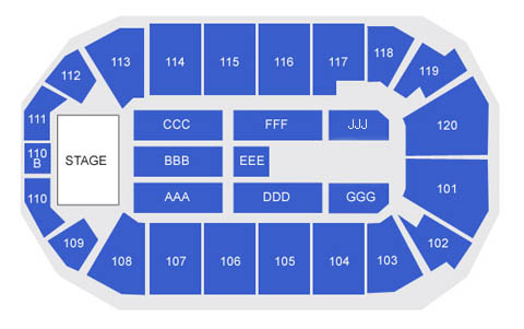 1stBank Center concert seating