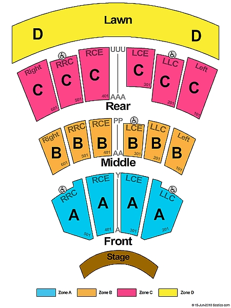 Constellation Brands Performing Arts Center concert seating