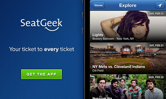 Download the SeatGeek iPhone App Today -- It is a free download