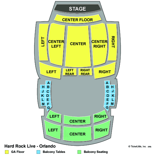 Hard Rock Live Orlando concert seating