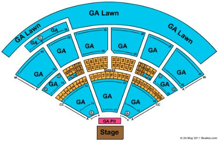 Isleta Amphitheater concert seating