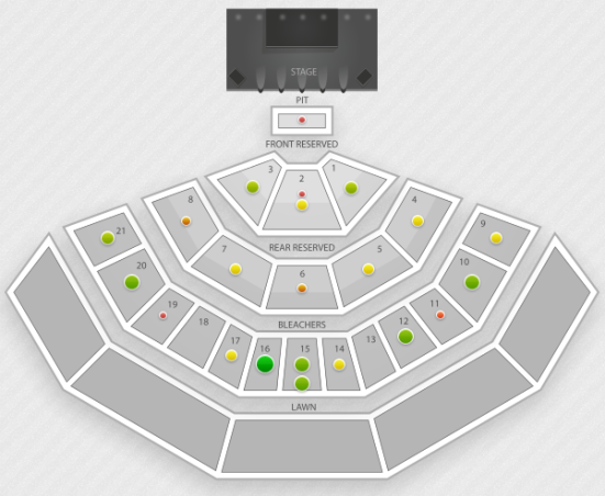 Marcus Amphitheater concert seating