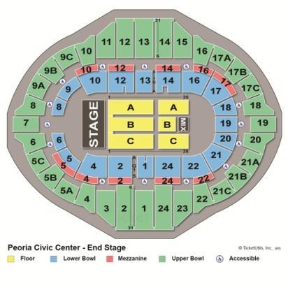 Peoria Civic Center concert seating