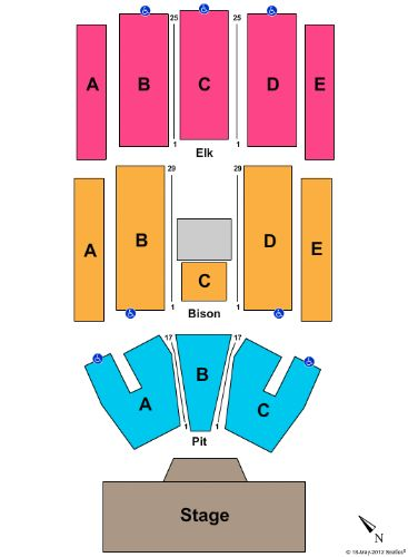 Pinewood Bowl Theater concert seating