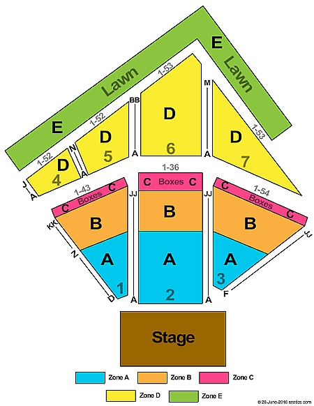 Red Hat Amphitheater concert seating