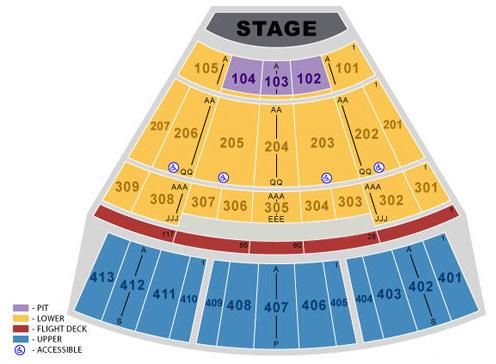 Verizon Theatre at Grand Prairie concert seating